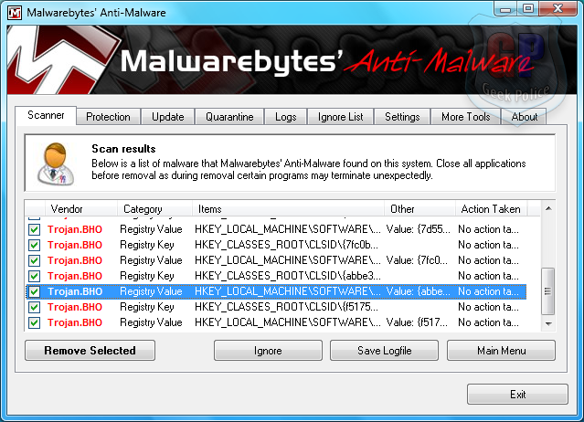 How to Remove Antivirus System PRO [Removal Guide] Mbam_i10
